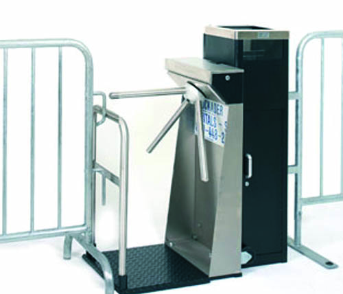 Ally Rental Turnstiles Used in Conjunction with our Steel Barriers